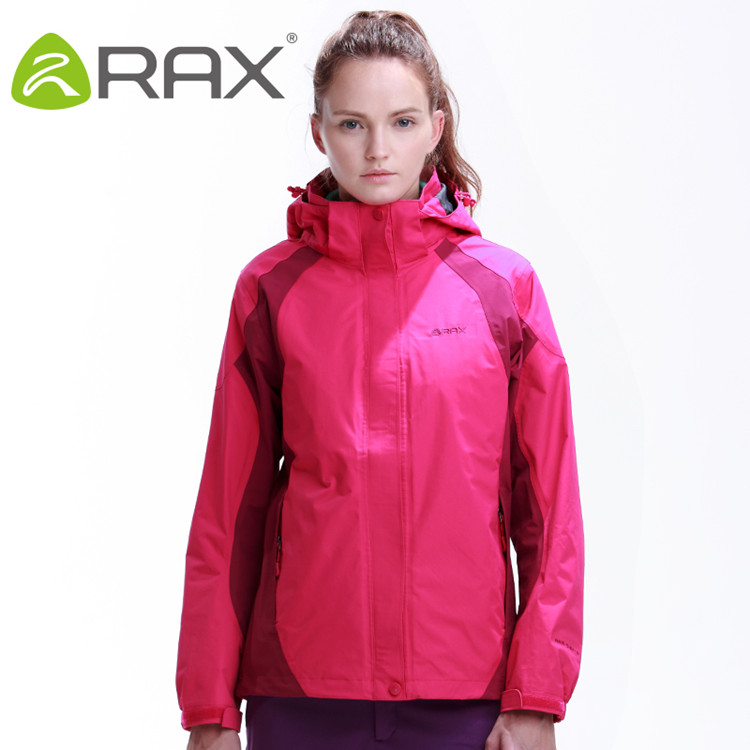 Rax Hiking Jackets Women Waterproof Windproof Warm Hiking Jackets Winter Outdoor Camping Jackets Women Thermal Coat 44-1A032W