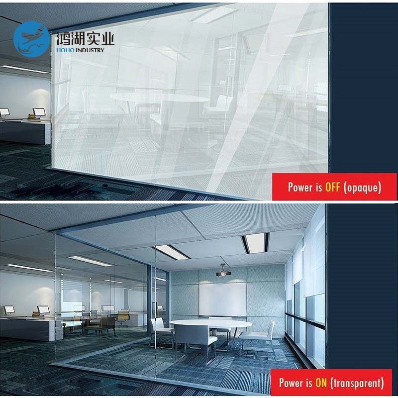 41X51cm Smart PDLC Film White to Opaque Switchable Glass Film High quality Tint Film With 5W powersupply(on/off switch)