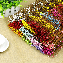 Cheap 10pcs 65cm Bud Artificial Branches Twigs Iron Wire For Wedding Decoration DIY Scrapbooking Handmade Wreath Fake Flowers