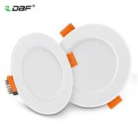 DBF-Luz descendente LED empotrada 2-en-1 SMD 2835 AC220V, sin conductor, disponible en 3W 5W 7W 9W 12W, foco para iluminación interior, ideal para techo de dormitorio