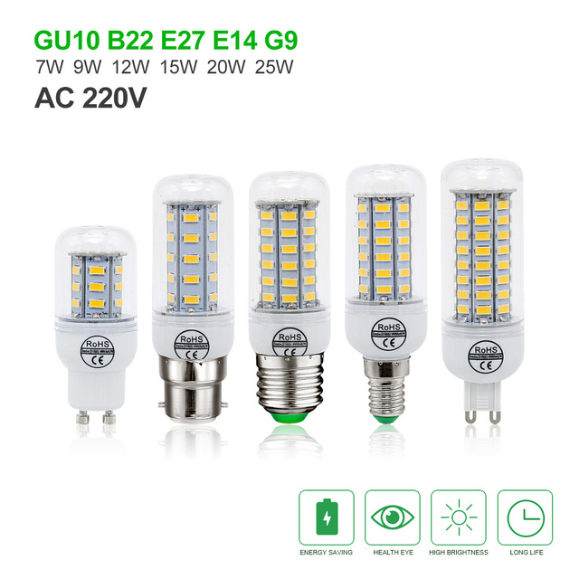 Hypermoderne CE & RoHs SMD 5730 E27 E14 B22 G9 GU10 LED Lampe 9 watt 10 watt IG-57