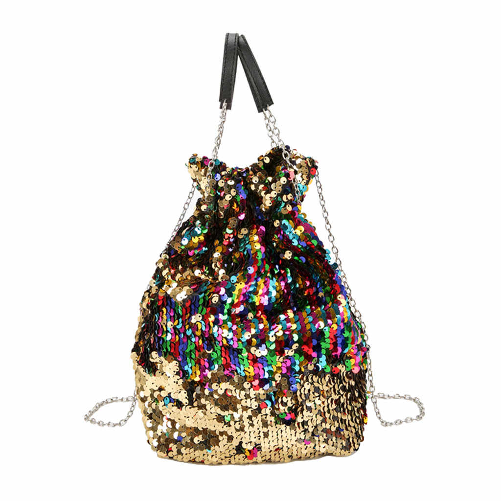 Torby Crossbody dla kobiet dziewczyna cekiny łańcuch kolorowe torby na ramię księżniczka Bling torba Crossbody sac głównej femme luksusowe torebki