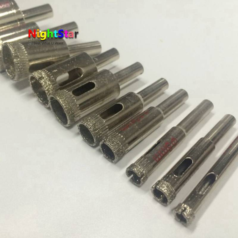 5pcs 8mm Diamond Coated Core Drill Bit Tile Marble Glass Ceramic Hole Saw