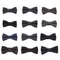 100% Wool Bowtie for Men Suits Brand Bow Ties For Wedding Groom 2017 New Fashion  Classic Plaid Design  Slim Bow Tie Cravat