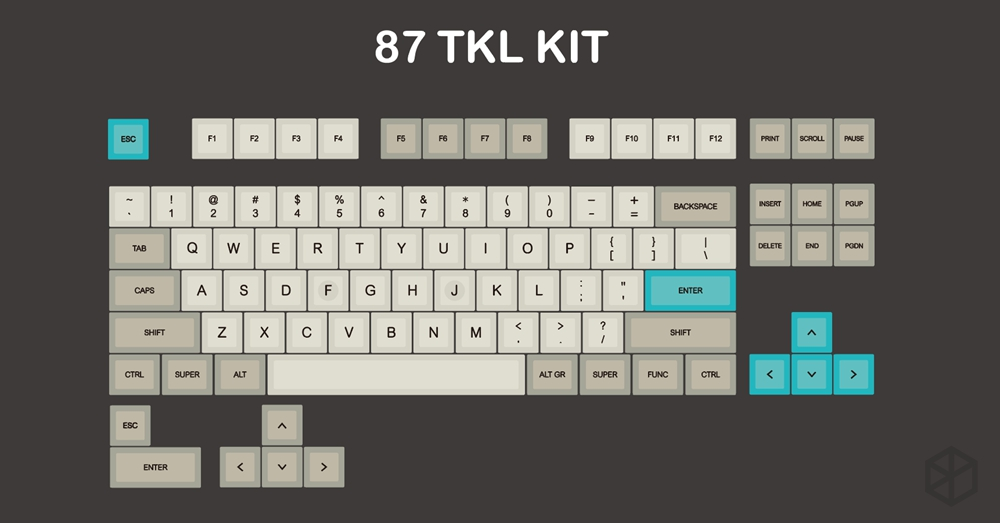 Image 5 - dsa profile Dye Sub Keycap Set PBT plastic retro beige for mechanical keyboard beige grey cyan gh60 xd64 xd84 xd96 87 104-in Keyboards from Computer & Office