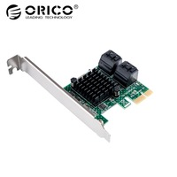 ORICO 4 Port SATA3.0 PCI E Expansion Card High Speed 6Gbps For Laptop Support Desktop Computer