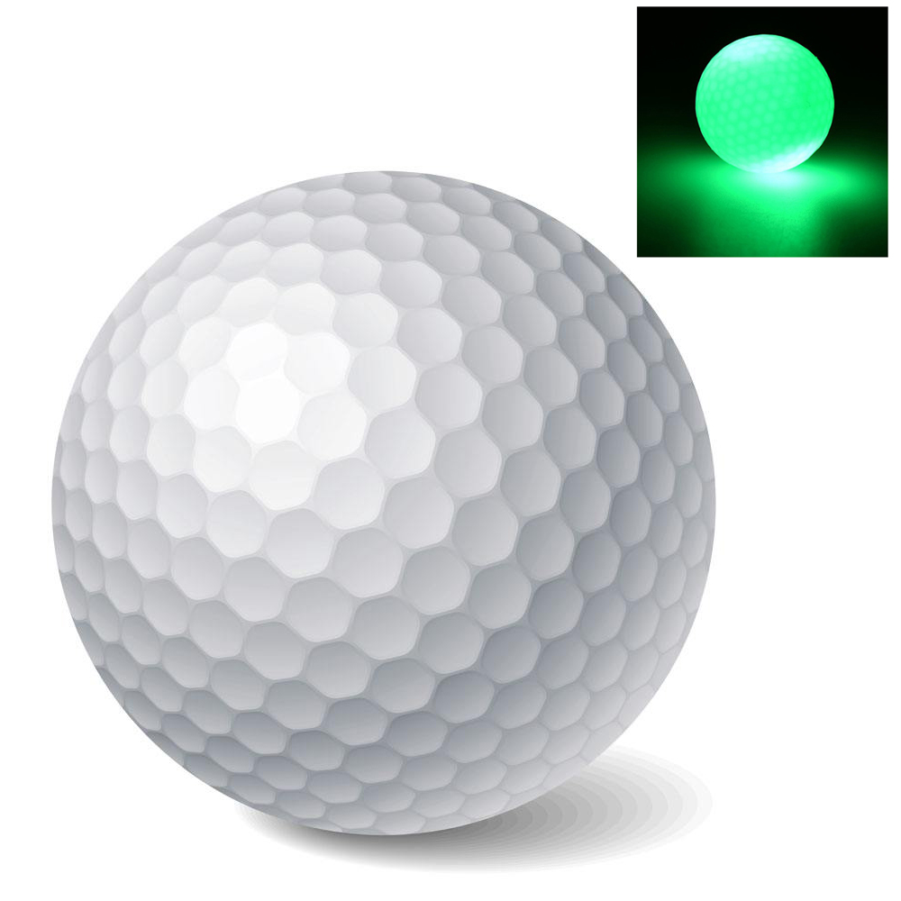 High quality New Light-up Color Flashing Glowing Electronic Golf Ball For Night Golfing Gift