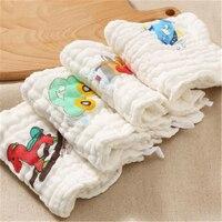Муслин хлопок новорожденный ребенок полотенца платок салфетки абсорбент твердые мягкие towel детские нагрудники хлопка милый 70a0073