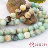 Wholesale Diameter 12mm Round Natural Amazonite Stone Beads Diy Jewelry Findings Accessories a String Roughly 32 pieces(JM6799)