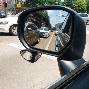 Image 5 - 2 ใน 1 รถกระจกนูน & กระจกมองหลังกว้างมุมกระจก 360 หมุนปรับด้านหลังดูกระจกดูล้อหน้า