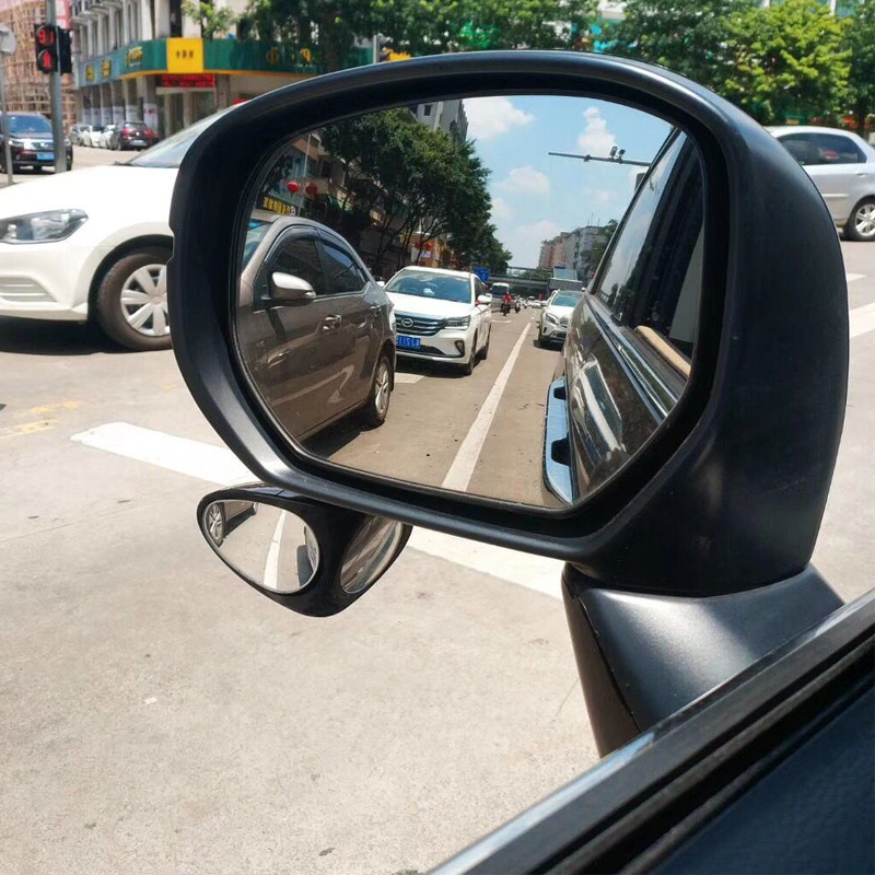 Image 5 - 2 in 1 Car Convex mirror & Blind Spot Mirror Wide Angle Mirror 360 Rotation Adjustable Rear View Mirror View front wheel-in Mirror & Covers from Automobiles & Motorcycles