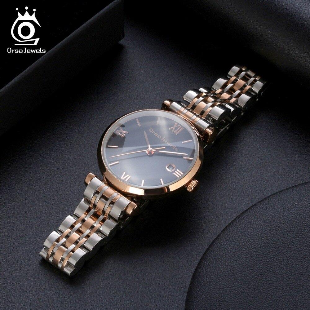 ORSA JEWELS для женщин наручные часы Высокое качество нержавеющая сталь новый кварцевые женские часы Relogios Feminino OW12