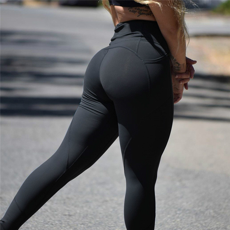 Image 5 - CHRLEISURE Push Up Women Legging Solid Color High Waist Outdoor Leggings Fitness Feminina Polyester Sexy Leggings-in Leggings from Women's Clothing