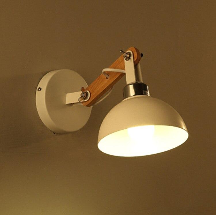 Nordic Современные Простые Американский Творческий Дерево Бра проходу Лестницы Спальня светодиодный ночники Бесплатная доставка