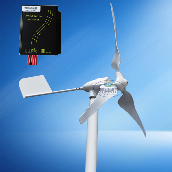 hot selling 600w MAX POWER 800W horizontal wind turbine generator 12v 24v AC/DC out put with wind charge controller
