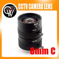 8mm lens 1/2 3 Megapixel Lens Manual Fixed Lens C Mount Industrial lens For cctv camera box