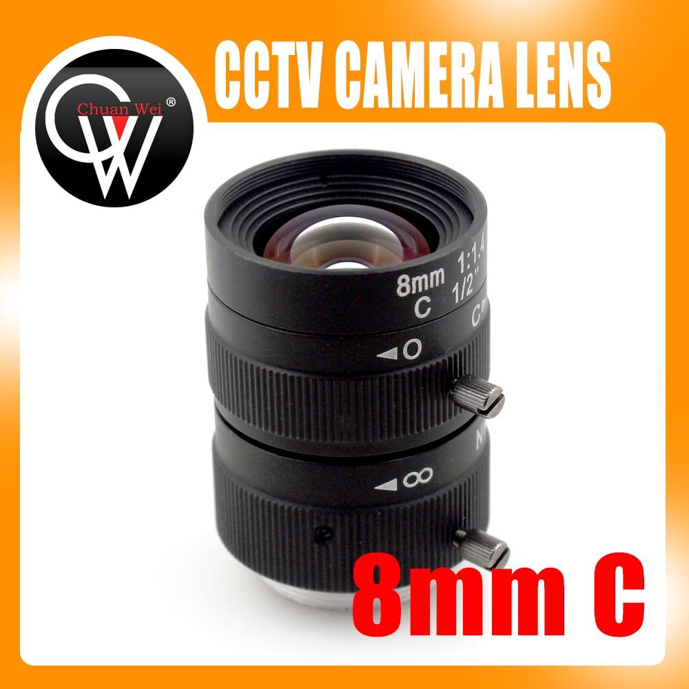 8mm lens 1/2 3 Megapixel Lens Manual Fixed Lens C Mount Industrial lens For cctv camera box 35mm 3mega pixel c mount 2 3 fa machine vision fixed focal length lenses industrial camera manual aperture lens