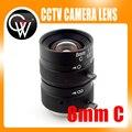 "Lente de 8mm 1/2 ""3 Megapixel Manual de Lente Lente Fixa C Monte lente Para cctv câmera de caixa Industrial"