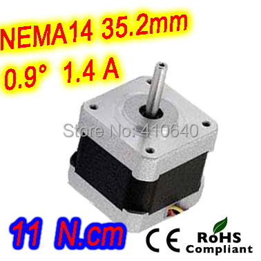 где купить  10 pieces per lot FREE SHIPPING stepper motor 14HM11-0404S Nema14 with 0.9 deg  1.4A  11 N.cm with bipolar and 4 lead wires  по лучшей цене