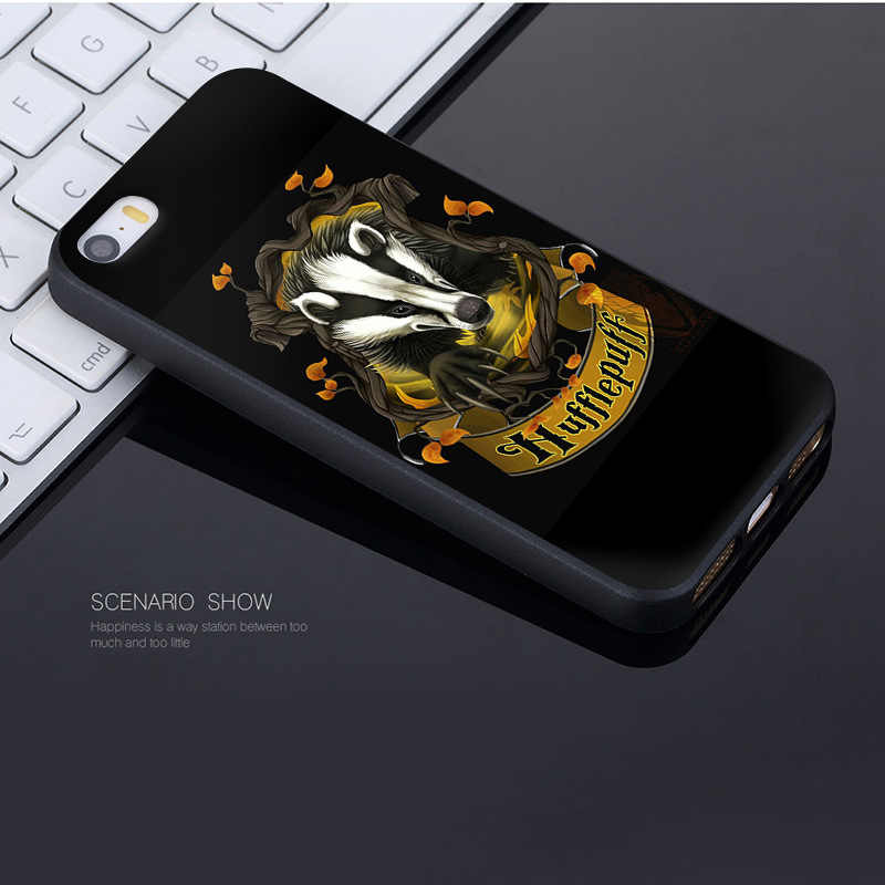 pretty nice 14b1f abf9f MaiYaCa For iphone 7 6 X Case Harry Potter Gryffindor Hufflepuff Ravenclaw  Slytherin Phone Case for iPhone 8 7 6 6S Plus X 5 SE