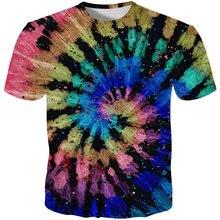 YFFUSHI 2019 New Male 3d Tshirts Print T Shirts Men Rainbow Flower Pattern shirt Summer Tops Tees Casual Streetwear 5XL