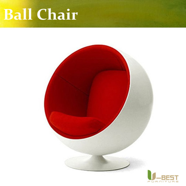 U-BEST white Fiberglass Eero Aarnio red Ball Chair for living room furniture массажер medisana nm 860 для шеи