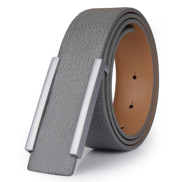 2017 New Designer Famous Brand Luxury Belts Men Male Waist Strap Faux Cowskin Leather Alloy Buckle Belt For Men Freeshipping