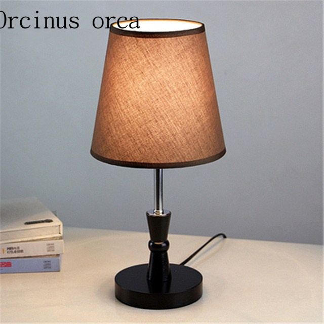 European style bedroom decorated marriage room warm personality and creative modern small lamp dimmable LED bedside lamp energy