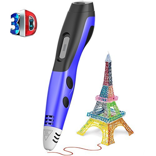 3D Pen Soft Digits Newest Version Low Temperature 3D Drawing Pen with LCD Display 3D Doodling Pen with  USB Power Supply for DIY christmas gifts fast epacket dewang newest 3d pen wiht usb cable low temperature free 9m abs pla child gift for imagination