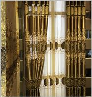 European Luxury Curtains Mosaic Embroidery Curtain For Bedroom Voile Curtains For Living Room Drapes Full