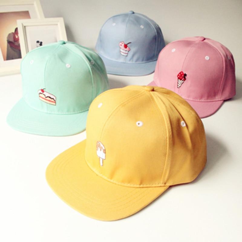 SnapBack moda casual chapeau color caramelo helado grils lovery algodón gorras  hip hop danza mujeres hueso Gorras de béisbol cappelli 7123576db6a