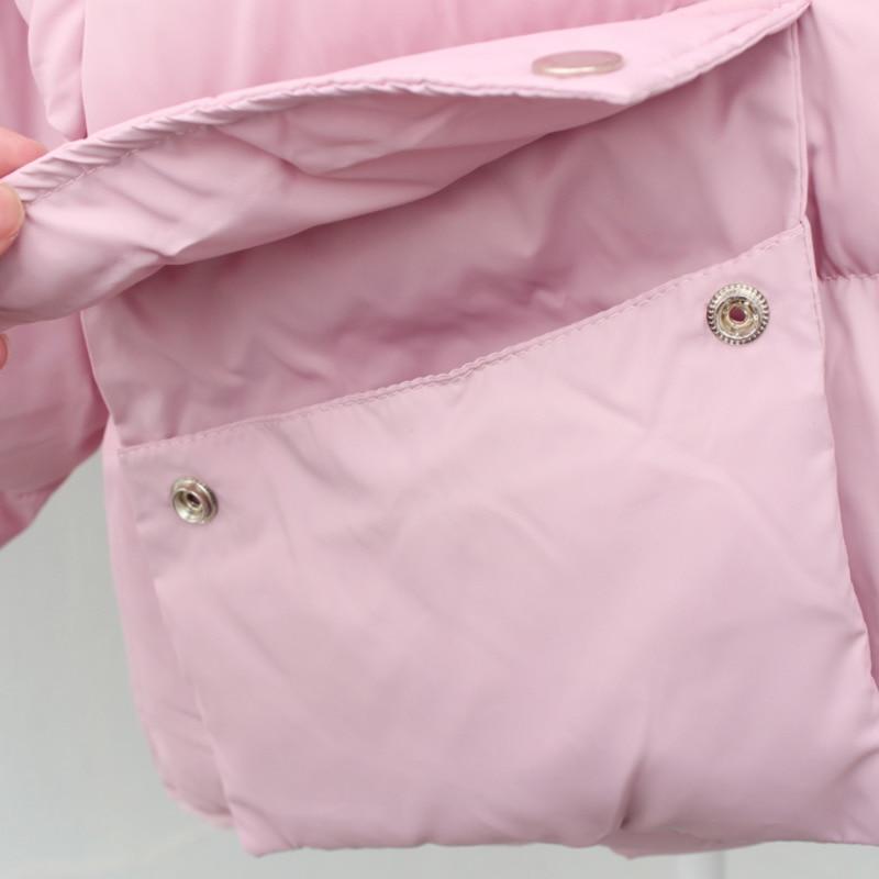 Coréenne Style A217 Lâche Des Plus Femelle Épais Chaud Bas 2018 Casual De Court Pink Manteau Pain Parka Taille Coton Hiver Femmes Vêtements xn0qx7RwY
