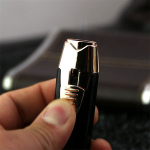 Image 5 - New Pipe Lighter Torch Turbo Lighter Dual Two Nozzles Pen Gas Spray Gun Fire Windproof Metal Jet Cigar Lighter 1300 C