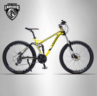 LAUXJACK Bicycle Aluminum Alloy Soft Trailer 24 27 Rapidly Down Mountain Bike Dual Oil Disk Bike
