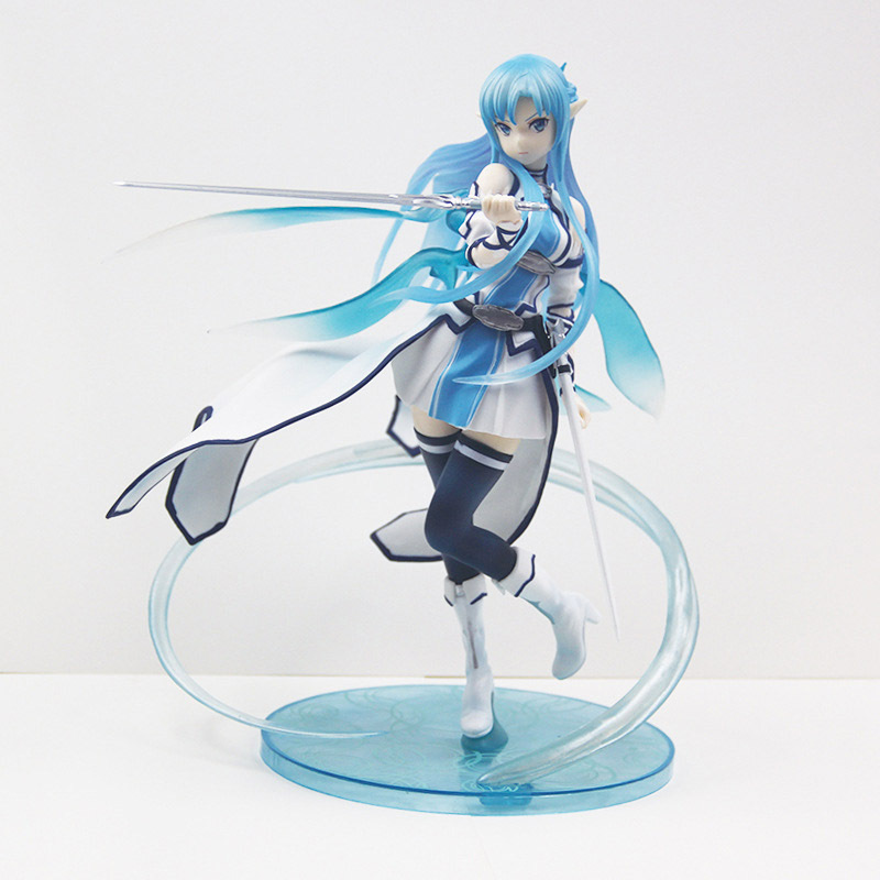 New Style Sword Art Online Action Figure Anime Model Yuuki Asuna Dolls Decoration Figurine Christmas Toys for Gifts 23cm