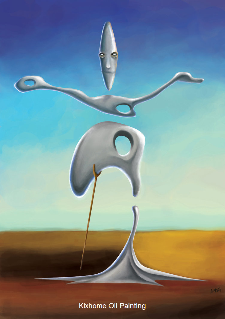 Dali shake by salvador dali abstract oil paintings replication apply for hotelroomoil artoil painting wholesale artwork xmas