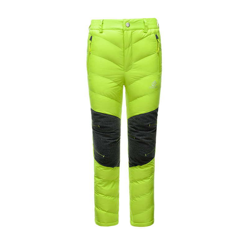 90% White Duck Down Winter Thermal Warm Outdoor Camping Sport Children Hiking Down Pants Kids PW5231