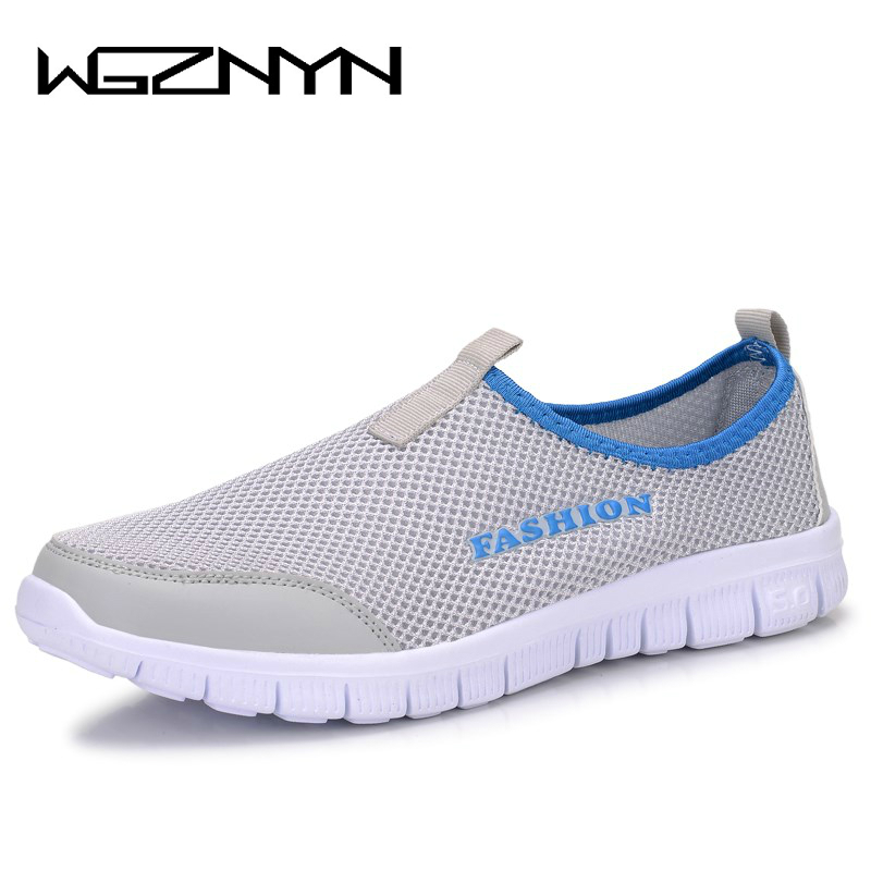 2017 Summer Style Breathable Mesh Shoes Man Loafers Size Plus 38-46 Men Shoes Male Casual Slip on Network Shoe Zapatillas Hombre men shoes summer plus size 36 46 slippers unisex sliders mesh breathable flat casual shoes for male s927m