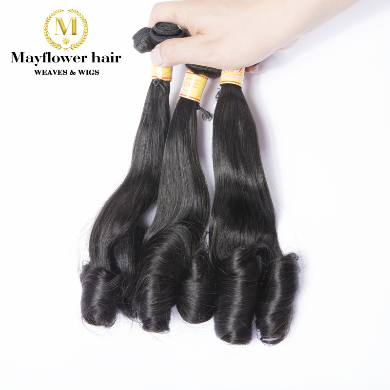 3 bundles Aunty Funmi Hair Egg curl natural color double drawn virgin - Hair Salon Supply - Photo 2
