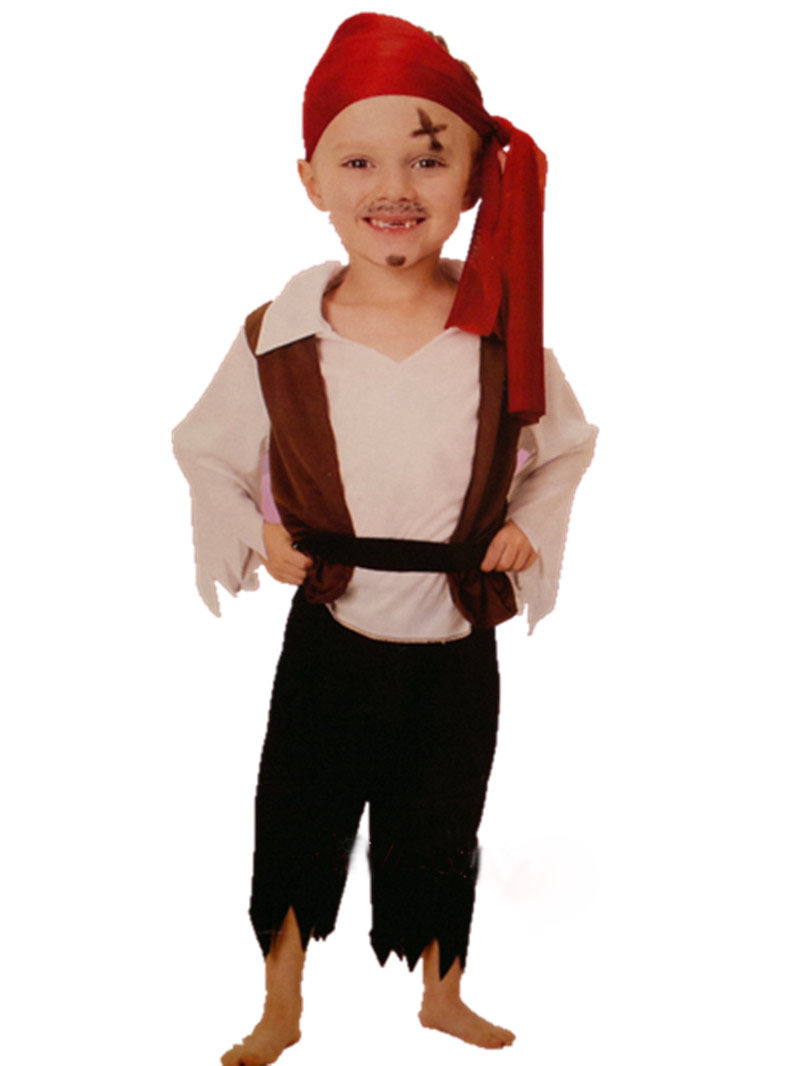 Dress up for masquerade party - Free Shipping Halloween Cosplay Children Clothing Masquerade Party Performance Clothing Pirate Captain Children Dress Up