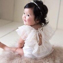 Bebe Partei Prinzessin Kleid Spitze Rüschen Infant Neugeborenen Baby Mädchen Kleidung Requisiten für Fotografie Zubehör Set