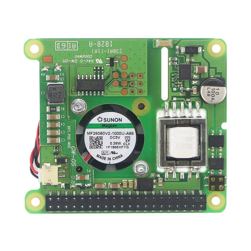 Image 4 - New Raspberry Pi PoE HAT Add on Board with Control Fan PoE Hat  Expension Board for Raspberry Pi 4 Model B / 3B  Plus / 3BDemo Board  Accessories
