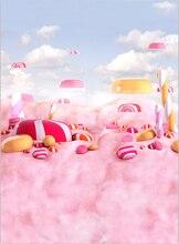 Grande Doces Candyland backdrop Computador impresso das crianças das crianças Fundos Vinil pano de Alta qualidade para venda