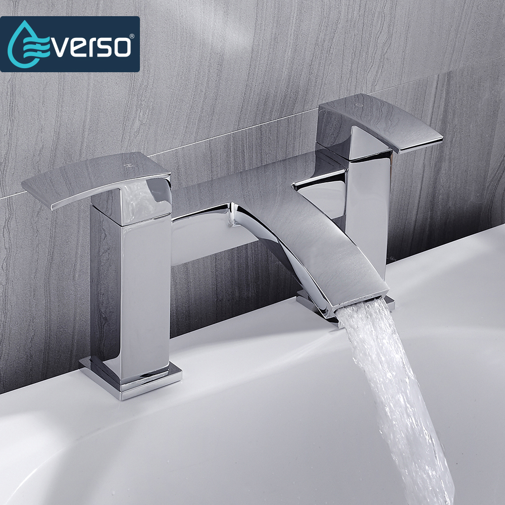EVERSO Bathroom Shower Faucet Brass Bathtub Faucet Hot and Cold Water Mixer Tap Chrome Finished Torneira china sanitary ware chrome wall mount thermostatic water tap water saver thermostatic shower faucet