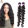 8А Класс Перуанский Девственные Волосы Свободная Волна 2 шт./лот Необработанные Перуанский Свободная Волна Выдвижение Человеческих Волос Натуральный Цвет 10-32 дюймов