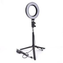 """Universal 14.5 """"led anel luz regulável 3200 k 5500 k anular make up lâmpada & tripé para estúdio fotografia iluminação"""
