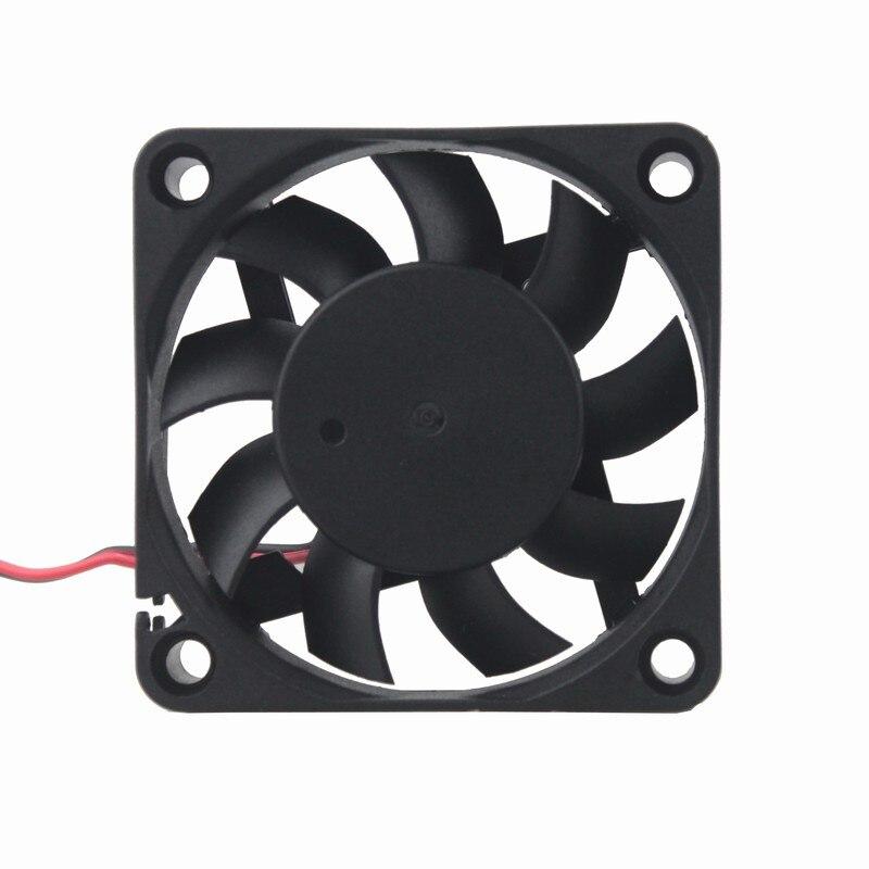 2 шт Gdstime 60 мм 6015 5 в 12 В 24 В DC Охлаждающий радиатор вентилятор 6015 60x60x15 мм 12 В 2PIN USB PC ноутбук компьютер охлаждающий вентилятор