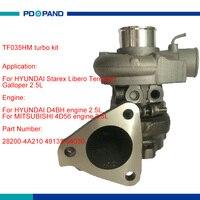 TF035 турбо турбина компрессора колеса 28200 4A210 49135 04030 для hyundai Starex Terracan Libero Galloper II 2.5L D4BH 4D56A