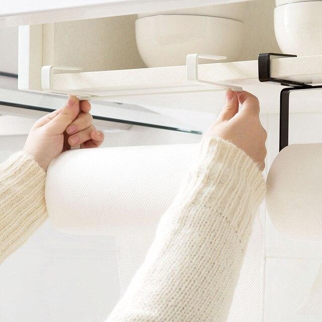 1 pz Asciugamano Armadio Rack di Carta Igienica In Acciaio Inox Cucina di Casa Porta Rotolo Porta Attaccatura Dell'organizzatore Di Immagazzinaggio del Gancio Del Supporto Cremagliera