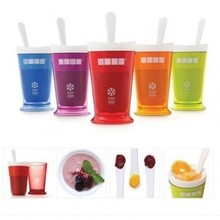 New Fruits Juice Cup Fruits Sand Ice Cream Slush & Shake Maker Slushy Milkshake Smoothie Cup Summer Easy(China)